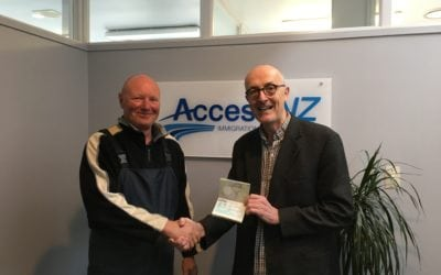 After 46 years Kevin finally gets New Zealand Residency!